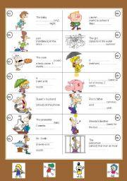 Past simple of regular verbs + particles (set II)