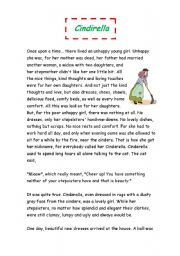 English Worksheets: cindirella