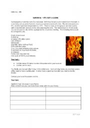 English Worksheets: SURVIVAL 1