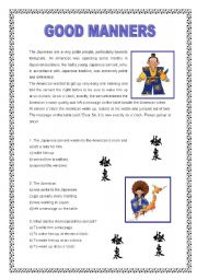 Worksheets Good Manners Worksheet english teaching worksheets manners good 2 pages