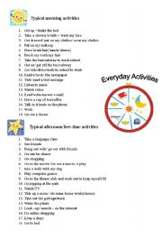 English Worksheets: Practice talking about daily routines