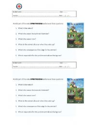 English Worksheets: Over the edge - film activity