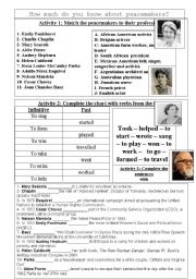 English Worksheet: Human Rights Leaders