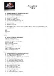 juric park science worksheet juric best free printable worksheets. Black Bedroom Furniture Sets. Home Design Ideas