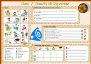English Worksheet: Can / Can´t & Sports (Fully editable + B&W version)