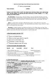 11th grade exam - ESL worksheet by dilekche