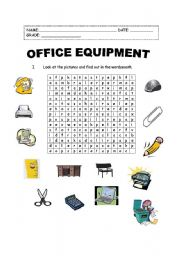 Worksheets Office Worksheets english teaching worksheets in the office equipment