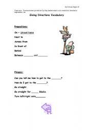 English Worksheet: Giving Directions Worksheets
