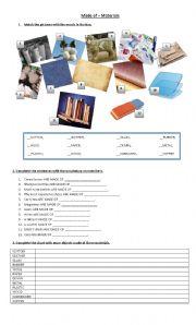English Worksheets: materials + made of