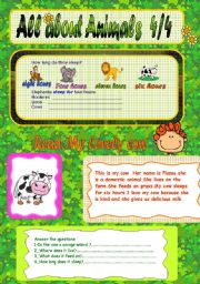 English Worksheets: All about animals 4/4