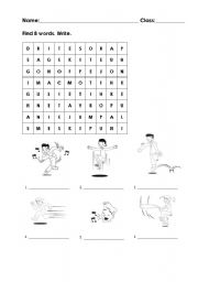 English Worksheets: Actions crosswords
