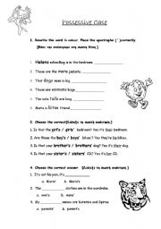 ... grammar worksheets punctuation apostrophes possessive case apostrophe