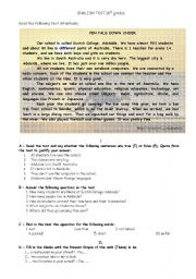 English Worksheet: Pen pals down under