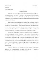 Cause and effect essay thesis