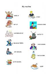 English worksheets: Routine, 3rd person, days of the week ...