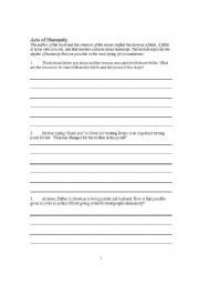 English Worksheets: The Boy in Striped Pajamas film WS