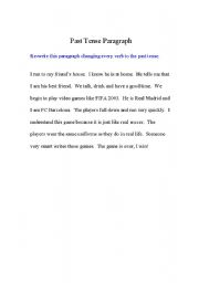 Shift tenses in an essay paragraphs