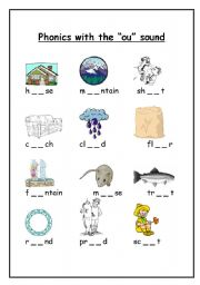 English Worksheets: Phonics with the
