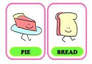 English Worksheet: Food Flash-cards 1/3