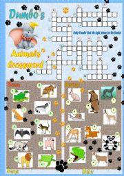 English Worksheets: Dumbo�s Animal Crossroad
