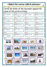 English teaching worksheets: Wonders of the World