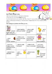 English Worksheet: Play EASTER bingo