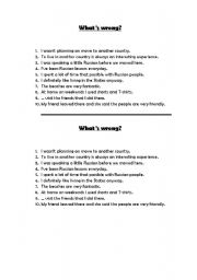 English Worksheets: What�s wrong?