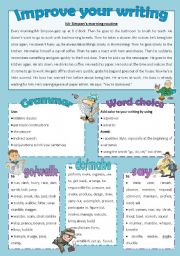 English Worksheets: Improve your writing