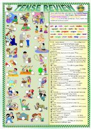English Worksheet: TENSE REVIEW