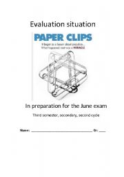 English worksheet: The Paper Clips Project evaluation situation