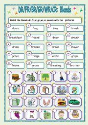 English Worksheets: Blends