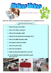 English Worksheets: Pet Airways- A listening and speaking activity. ( answers included)