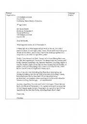 English Worksheets: Christian Bale - Letter of Aplogy