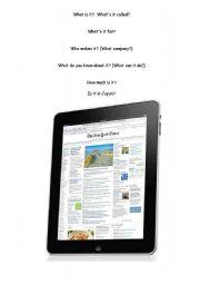 English Worksheets: iPad