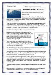 English Worksheet: Placement Test 2