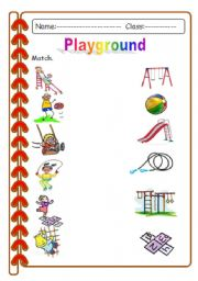 playground - worksheet by Asia. K