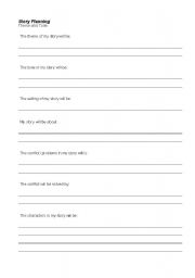 English worksheets: Tone Story Planning