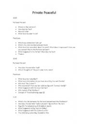 English Worksheets: private peaceful