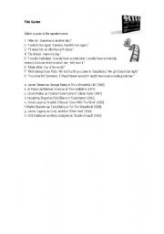 English Worksheets: Film quotes