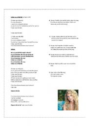 English Worksheets: Today was a fairytale by Taylor Swift