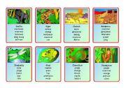 English Worksheet: Animal Riddles 1, 2 and Backs