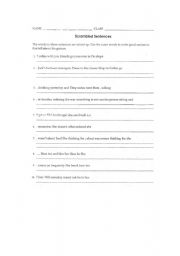 English Worksheets: Scrambled sentences and questions