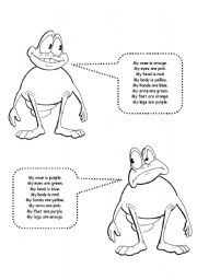 English Worksheets: Body - colour