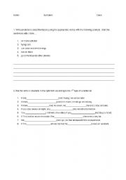 English Worksheets:  1st conditional and predictions exam