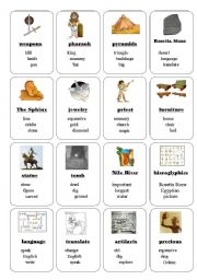 This is a graphic of Bright Ancient Egypt Printable Activities