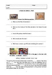 English worksheet: special days : test step 19 - Palio of Siena