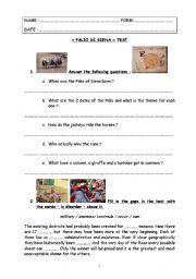 English worksheet: special days : test step 19 - Palio of Siena