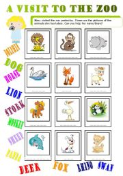 English Worksheets: a visit to the zoo 2/2