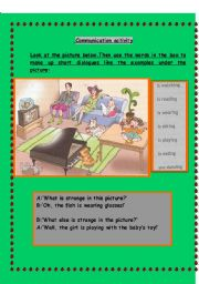 English Worksheets: Speaking activity- What�s wrong with them?