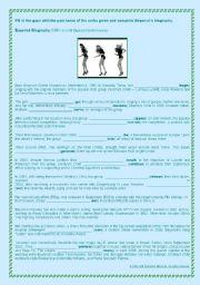 English Worksheets: Beyoncé